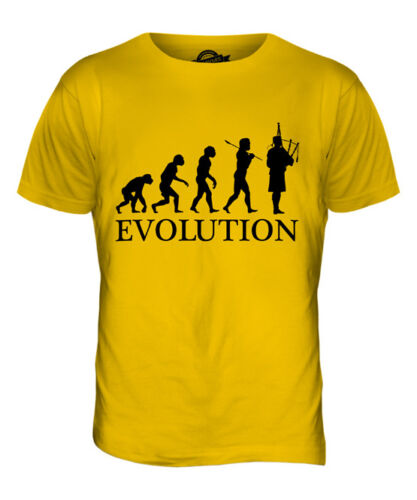 BAGPIPES PLAYER EVOLUTION OF MAN MENS T-SHIRT TEE TOP GIFT MUSICIAN