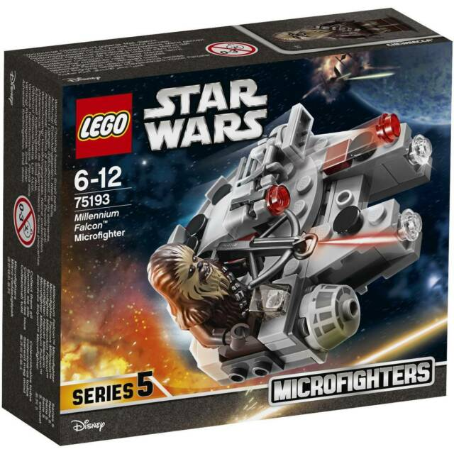 BRAND NEW  LEGO STAR WARS MICROFIGHTER 75193 MILLENNIUM FALCON SPACE SHIP