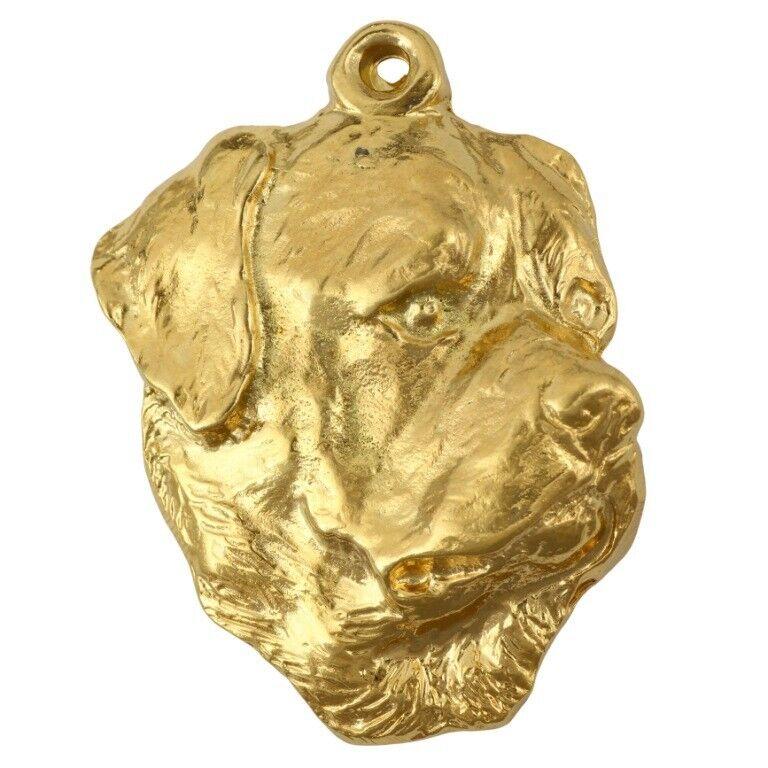 Rottweiler - porte-clés doré avec un chien dans une boîte boîte boîte Art Dog FR a6f090