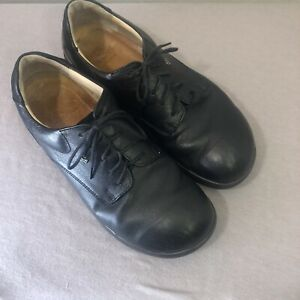 finn comfort black leather casual walking shoes mens ce 7