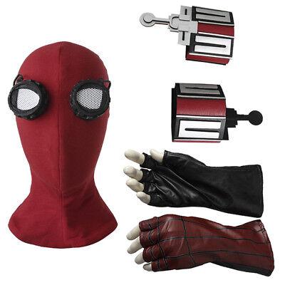 Spiderman Homecoming Peter Benjamin Parker Web Shooter Cosplay Mask Halloween