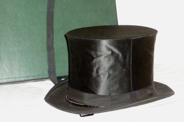 Antiguo Cilindro Plegable Chapeauclaque Hut Sombreros 57 Chapeau Claque Klapphut