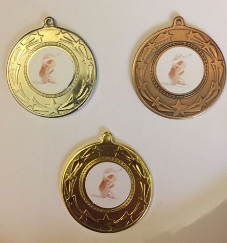 P Vous Choisissez La Médaille Ruban et couleurs 10x Ballet médailles Gratuit P