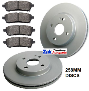 1.5 1.6 FRONT 2 BRAKE DISCS AND PADS SET *NEW* 2008-2014 MAZDA 2 1.3 1.4
