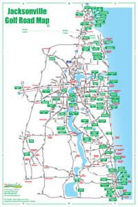 Details about Golf Road Map - Jacksonville, FL Golf Map - Golf Travel Map -  Golf Assessory