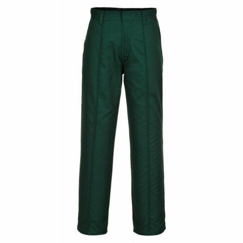 Work Wear Office Wear. Portwest 2885 Preston Trousers in Bottle Green