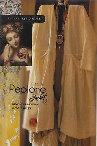 PATTERN-Peplone-Jacket-women-039-s-sewing-PATTERN-from-Tina-Givens