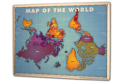 Blechschild Xxl Fun Weltkarte