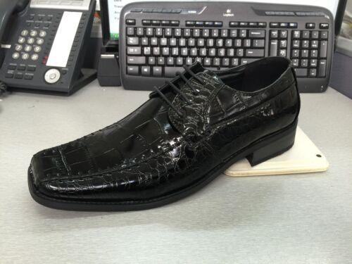 Men/'s High Quality Fashion Alligator Pattern Dress Shoes Black Size 8.5~13 5739