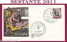 ITALIA FDC FILAGRANO 1977 BASSINI ANNULLO RAVENNA H233
