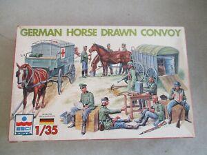 VINTAGE-ESCI-ERTL-1-35-SCALE-GERMAN-HORSE-DRAWN-CONVOY-MODEL-KIT-IN-BOX-5047