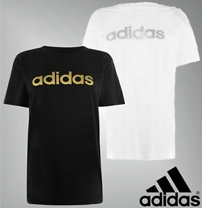 Ladies-Adidas-Short-Sleeves-Crew-Neck-Cotton-Foil-QT-T-Shirt-Sizes-from-8-to-18