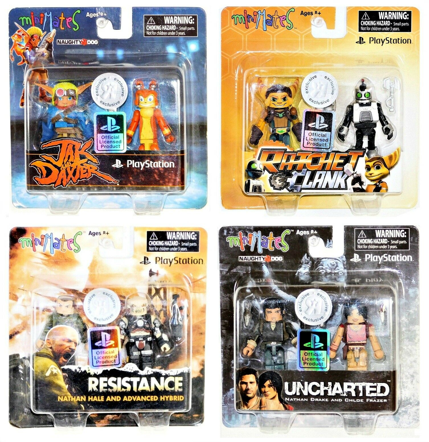 Minimates Sony Playstation TRU Set of 8 Jak Ratchet Resistance Uncharted