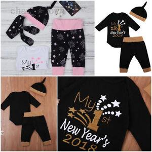 453ce71199294 Newborn My First NEW YEAR'S 2018 Christmas Baby Girl Boy Romper ...