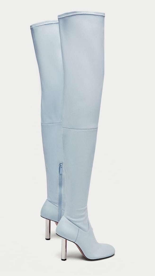Limited Woman Zara Altas Azul Agotado Botas Tacón Cielo En Con IEWDH29