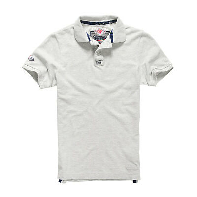 New Mens Superdry Classic Pique Polo Shirt Ice Marl
