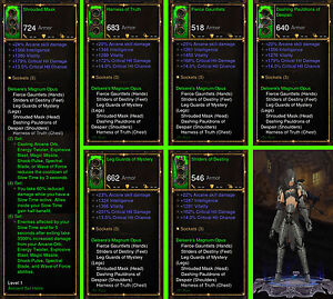 Details about Diablo 3 RoS Ps4 - Bundle - 4x Ancient Modded Sets for Wizard  - Softcore