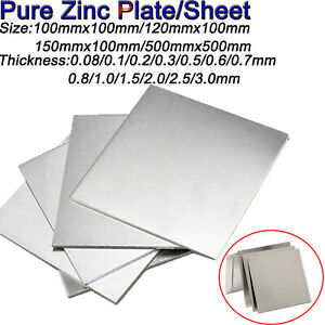 Many Sizes Zinc Sheet Metal  1.0mm