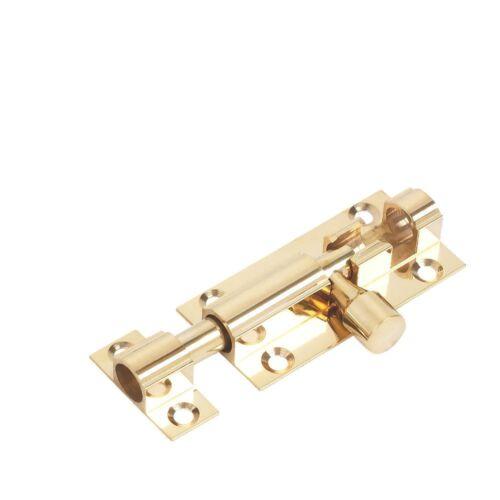 NEW Straight Door Bolt Polished Brass 51mm