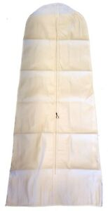 Wedding-Bridal-Dress-Cover-Bag-Heavy-Duty-72-039-039-White-THICK-COTTON-CANVAS