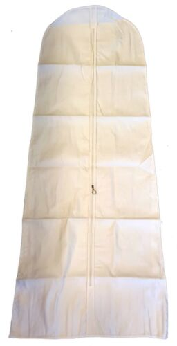"""Vestido de boda nupcial Cubierta Bolsa Heavy Duty 72/"""" Blanco-Gruesa algodón Canvas"""