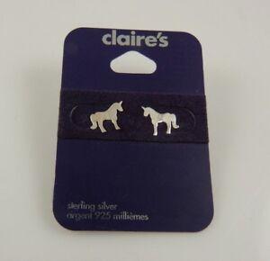 Sterling-Silver-Unicorn-post-studs-earring-earrings-925-stocking-stuffer-xmas