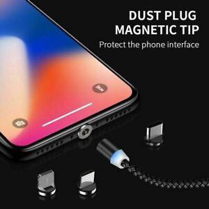 Magnetica-de-carga-rapida-Cable-Usb-Cargador-2-4A-Para-Tipo-C-Micro-Usb-O-IOS