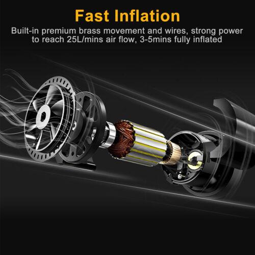 Tire Inflator Car Air Pump Compressor Electric Portable Auto DC 12V 120W 150 PSI