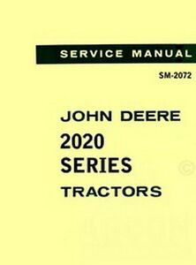 image is loading john-deere-2020-tractor-shop-service-manual-2072-