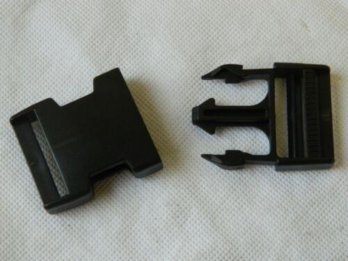 M4C Delrin Black Plastic Side Release Buckles 38mm