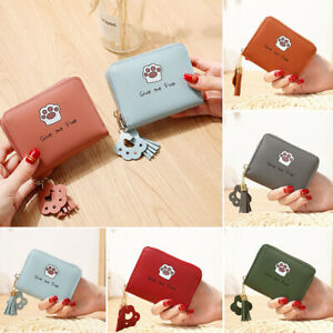 Women-039-s-Short-Small-Wallet-Lady-Leather-zipper-Coin-Card-Holder-Money-Purse