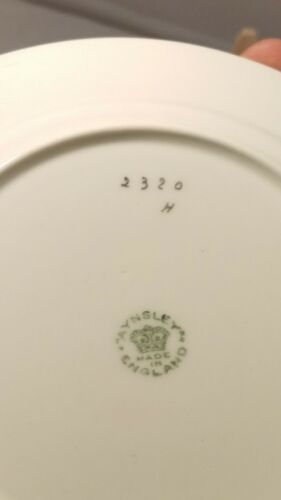 """s Antique c.1910 Aynsley 2320H Yellow /& Gold 5 7//8/"""" Bread and Butter Plate"""