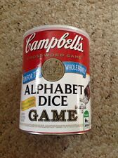 Campbell's Alphabet Dice Game, Complete.
