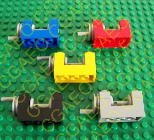 Red 1 x  Lego 73037 String Reel Winch  Light Gray Drum