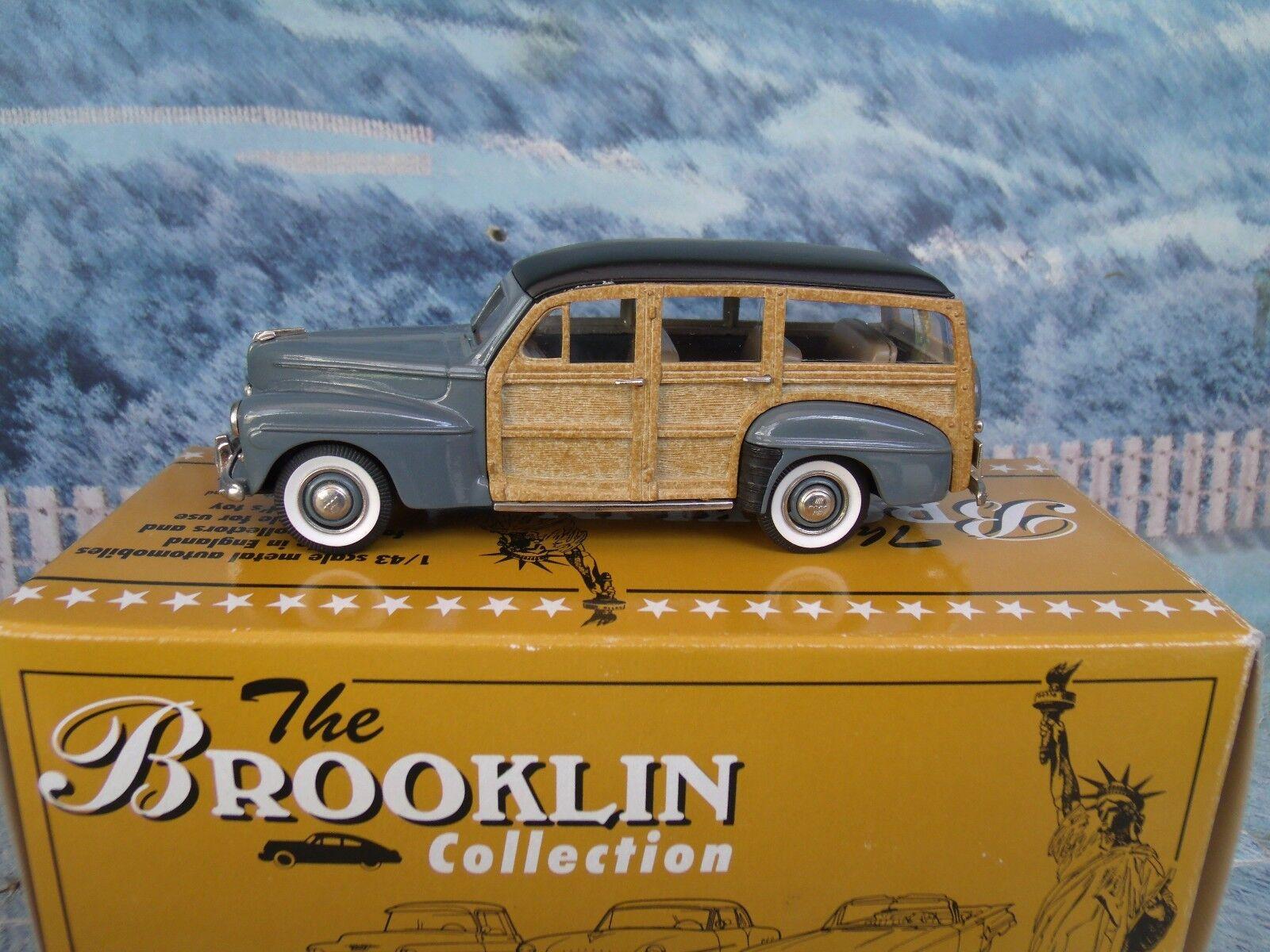 1   43 brooklin modelle (england) 1947 ford v8 kombi brk - 83 weißes metall