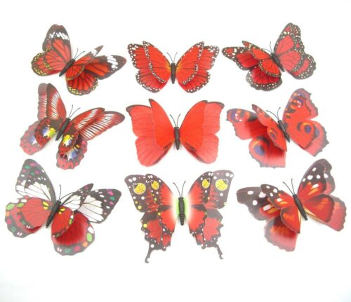 """20 Pcs 4.7/"""",Clip On Dual Wing Butterfly,Plant Tree Ornament,Home Party decor"""