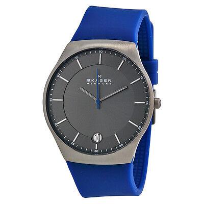 Skagen Balder Grey Dial Blue Silicone Mens Watch SKW6072