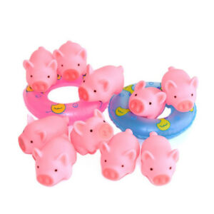 10-PCS-Rubber-Pink-Pig-Baby-Bath-Interesting-Toy-for-Children-KI