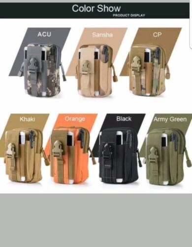 Tactical Waist Pack Belt Bag Camping Outdoor Hiking Military Pouch Wallet UK