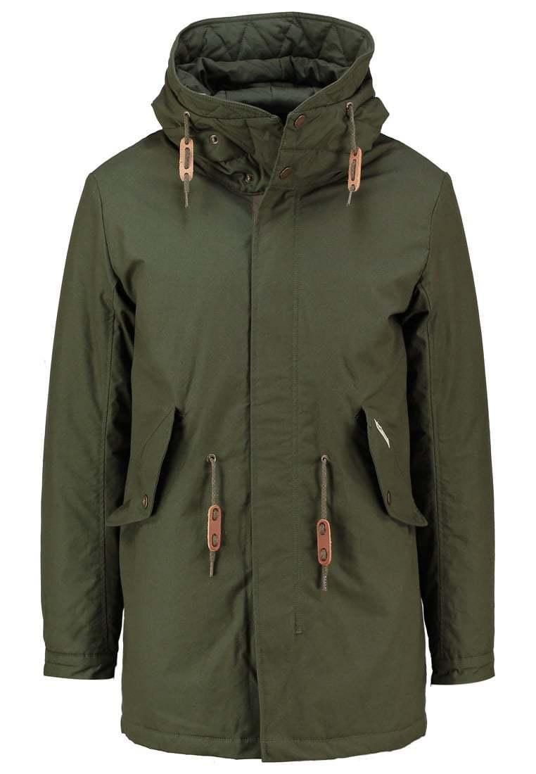 Loreak Mendian Gorramendi Khaki Winter Coat Large TD181 XX 08