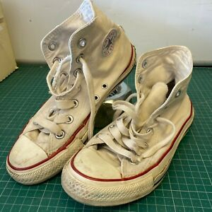 Distressed-Worn-Converse-Chuck-Taylor-All-Star-High-Top-Women-039-s-UK-4-Grungy
