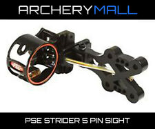 PSE X-force Strider 5 Pin Compound Bow Sight Black W/ Removable Light