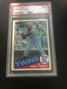 1985-Topps-536-Kirby-Puckett-Twins-ROOKIE-RC-NM-MT-PSA-8-HOF