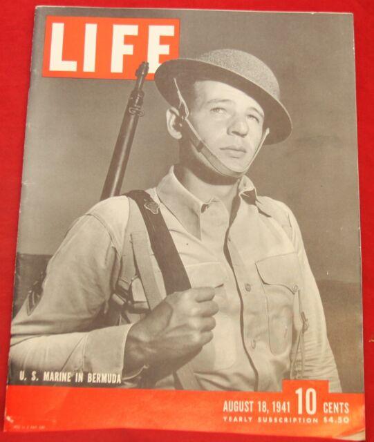 Life Magazine August 18 1941 Louis Bouche Artist Near Mint Condition