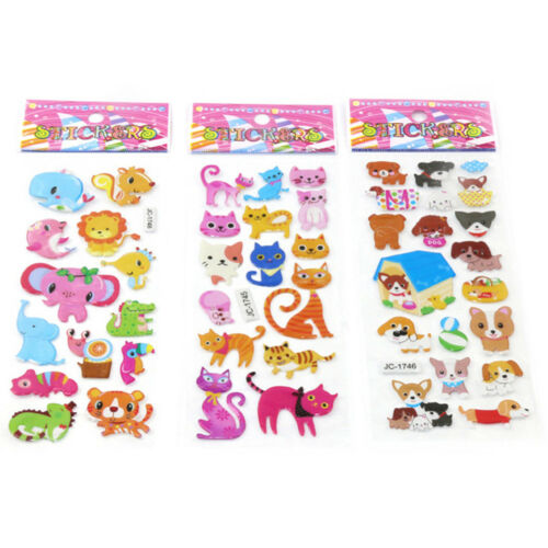 5sheets 3D Bubble Sticker Toys Children Kids Animal Classic Stickers Gift  X