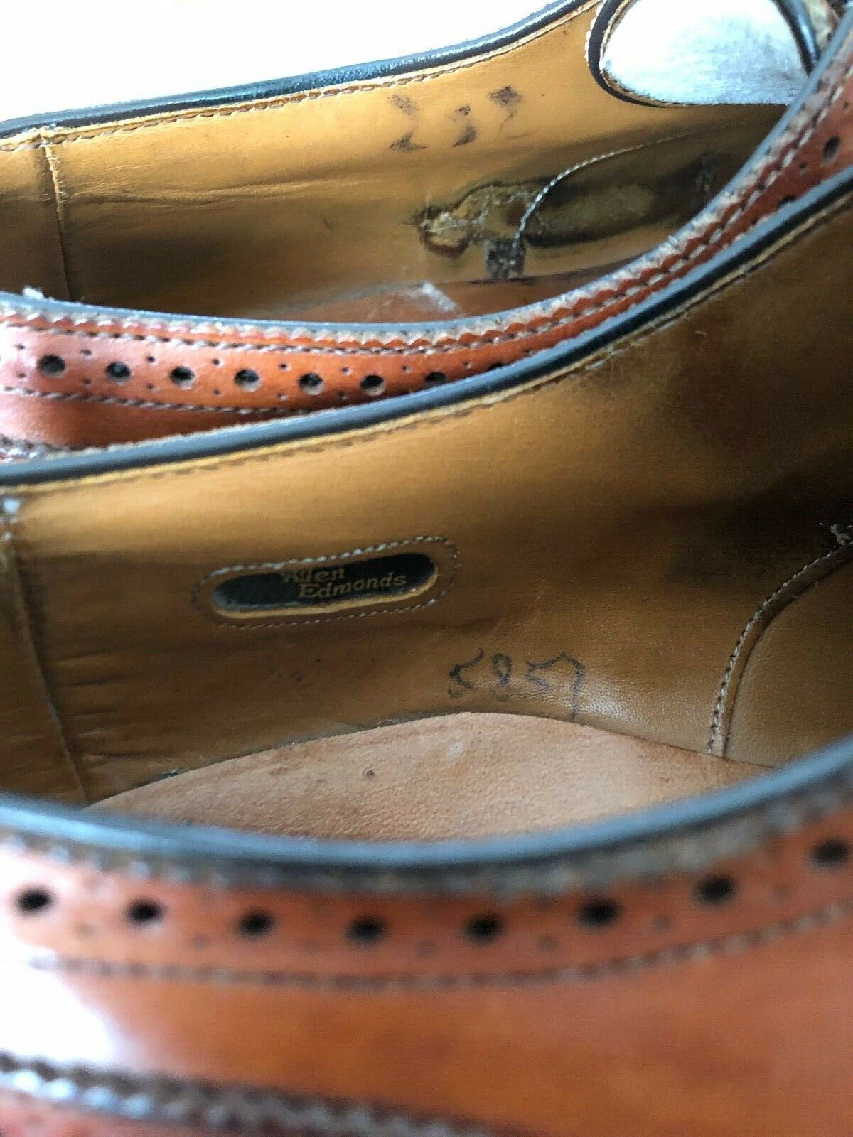 Allen Edmonds Sanford Chestnut Brown Mens Shoe 8 … - image 8