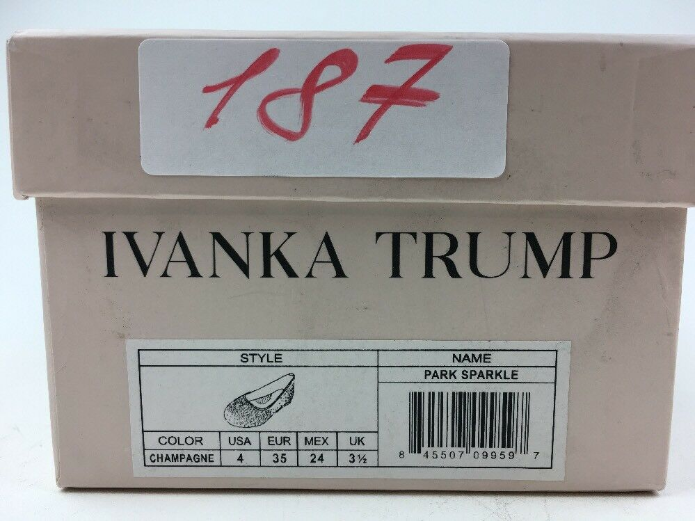 Ivanka Ballet Trump Park Sparkle Champagne Ballet Ivanka Flat Größe 2 187 dea616