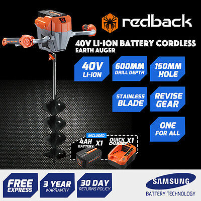 40V Battery Cordless  Posthole Diggers,Earth Auger With 4AhBattery,2ACharger
