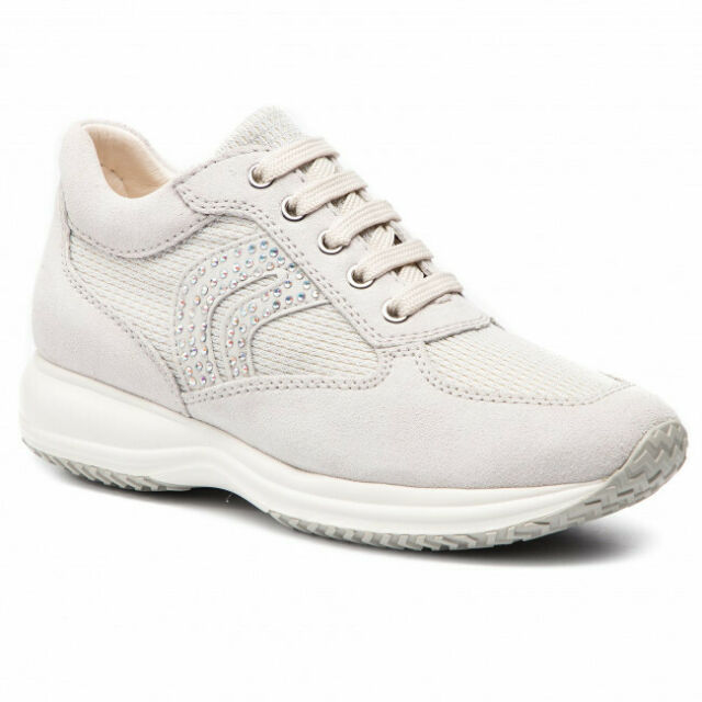 Whitesilver C D5462c 022ly Donna Off Sneakers D Happy Geox C0626 XZPkiOu