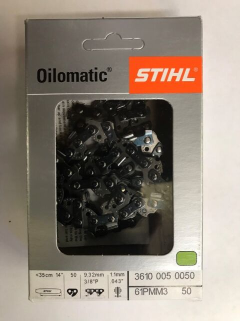"HT101 131 103 Stihl OEM 3-Pack 61PMM3-44 12/"" Chains .043 3//8 Picco MS193,194"